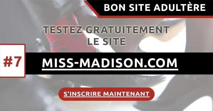 Mon avis sur le site adultère Miss-Madison