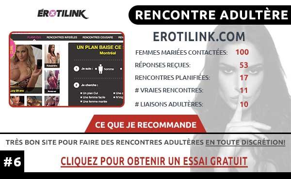 Rencontre adultère sur ErotiLink