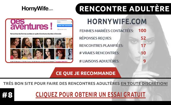Rencontre adultère sur HornyWife